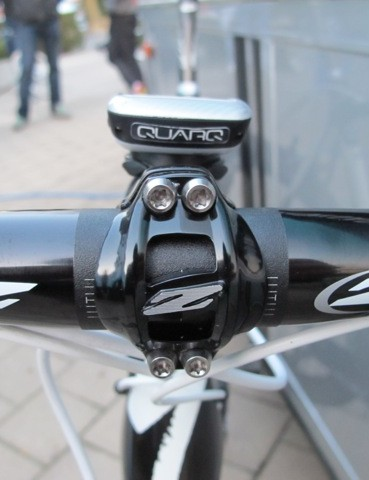 Torx-head titanium bolts on Tom Boonen's (Omega Pharma-Quick Step) Zipp Service Course SL stem
