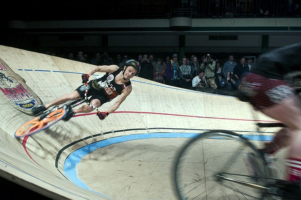 Only finalists get to compete in pursuit racing at the Mini Drome