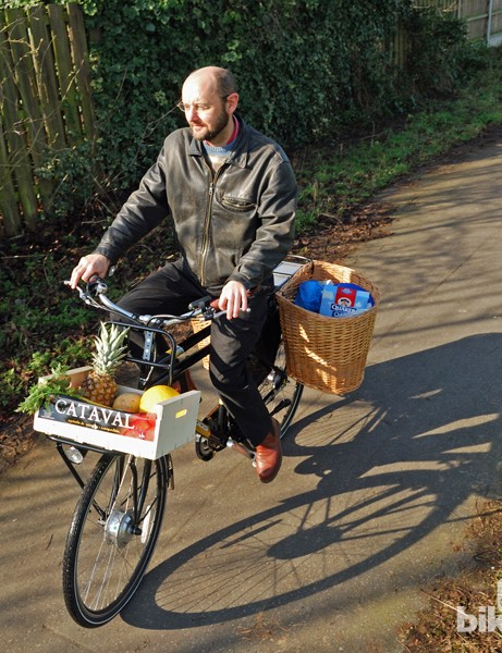 With large panniers added, the Kudos makes a decent load carrier