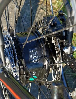 All Volt bikes use the same rear hub motor setup