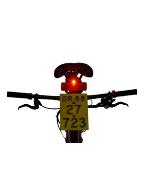 Integrated LED lights are provided, front and rear