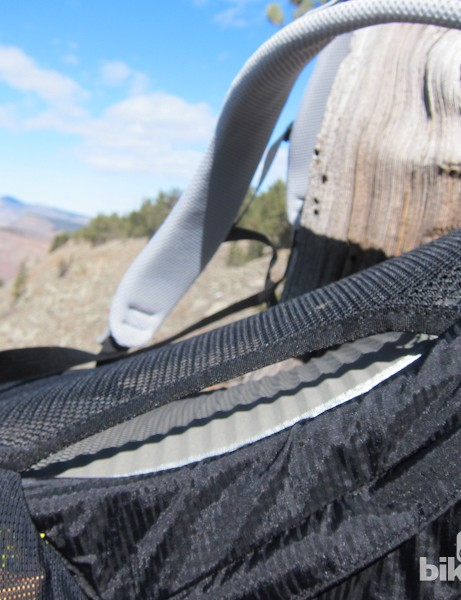 Osprey's Airspeed suspension system allows for plenty of airflow between a rider's back and the pack