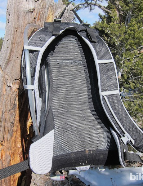 In addition to the well-vented Airspeed back panel, Osprey supply well-vented and padded shoulder straps