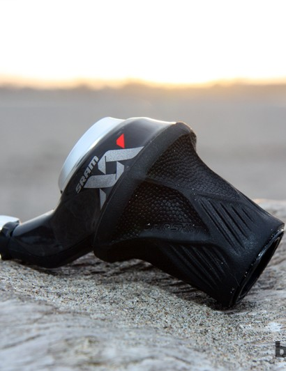 The new SRAM Grip Shift XX will likely be a fixture among the World Cup cross-country crowd but we expect to see it on trail bikes, too