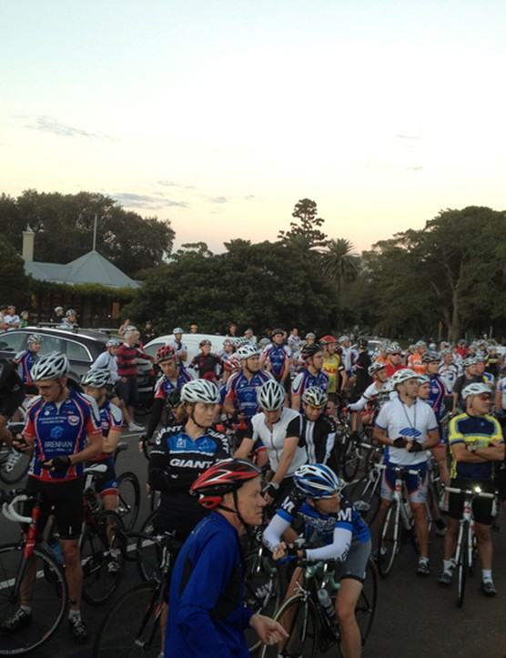 Thursday morning's protest ride in Centennial Park attracted 500 riders