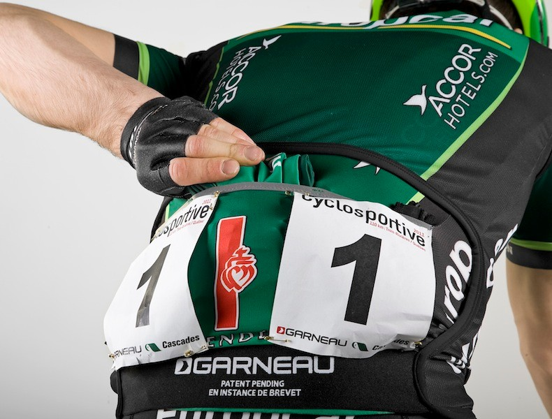Louis Garneau's Speedzone custom vest with race number cutout