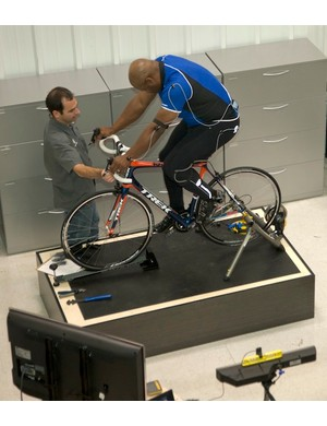 Jackson on the Retul fit fixture