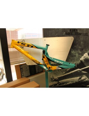 The Team Issue 303 Limited Edition downhill frame (circa 2010) was based on the same concept as the 303 World Cup that's becoming available this spring. At that point the team had been on the design for a year; Yeti have made modifications due to the subsequent two years of team testing