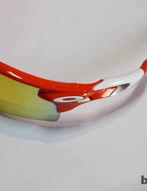The hinge on the new Oakley Radarlock looks simple enough in use