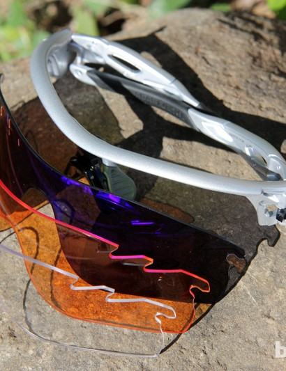 Oakley will offer Radarlock lenses in twelve lens tints — including polarized and photochromic options — and both vented and non-vented shapes