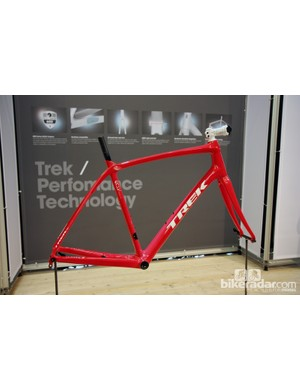 Trek will offer the Domane as a bare frameset, too. Claimed weight is 1,050g for a 56cm size