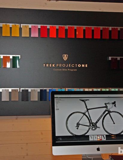 Trek will offer the Domane through their Project One custom program as well, with availability beginning right now