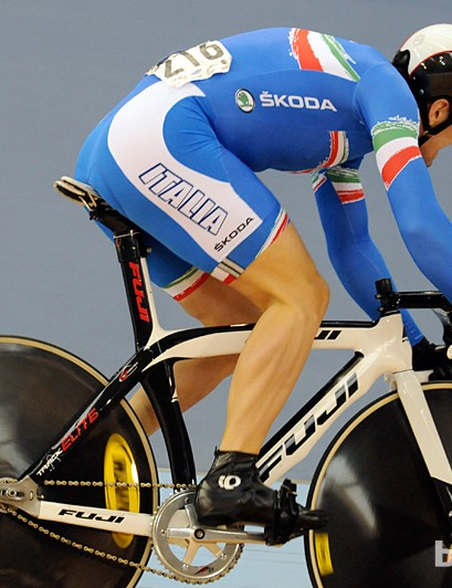 This Italian's steerer tube could do with shortening