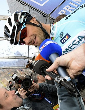 Tom Boonen (Omega Pharma-QuickStep) has won the Tour of Flanders for the third time