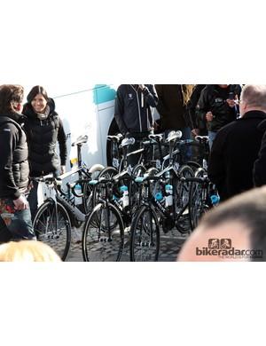 Fabian Cancellara was the only Radioshack-Nissan-Trek rider aboard the new Domane for Ronde van Vlaanderen.