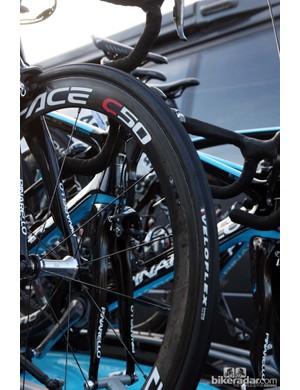 Veloflex tubular tires on Edvald Boasson Hagen's (Sky) Pinarello Dogma 2.