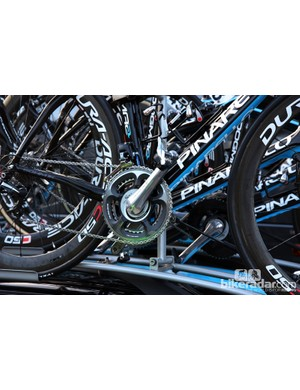 Edvald Boasson Hagen's (Sky) primary Pinarello Dogma 2 is equipped with a power meter from SRM.