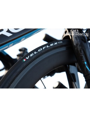The rims on Shimano's new carbon tubular wheelset are notably wide with a signficantly more rounded profile than before. Hidden spoke nipples will complicate truing, though.