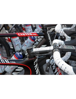 Canyon's head tubes are on the long side but team riders don't seem to have too much trouble achieving their desired position - at least with a lower-profile headset cone and standard compression assembly fitted.