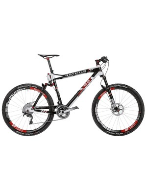 Rotwild's R series full-suspension bikes are designed for cross-country racing, with 110mm of travel. This is the R.R2 FS World Cup, Cup £8,299