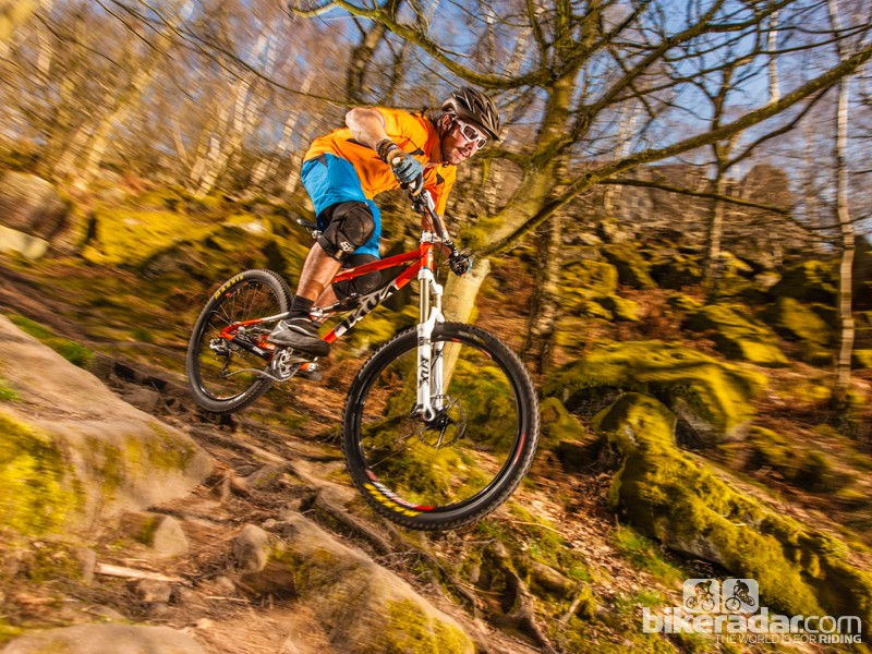 The Cotic Rocket shows tester Callum Jelley what it's made of