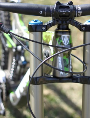 The e2 tapered head tube comes equipped with Cane Creek's angle set, though, the gimbals are set in 0° offset cups
