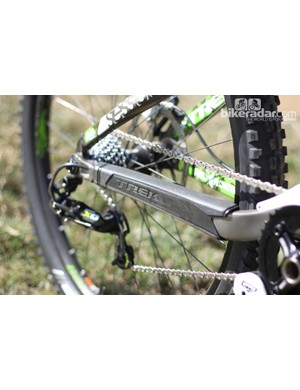 Trek dose the alloy Session frame with plenty of rubberized armor