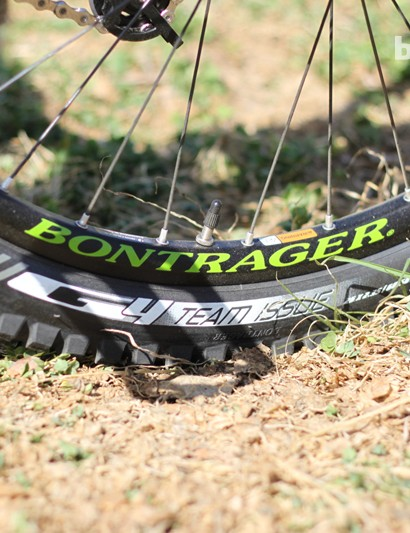 Bontrager's new G4 Team Issue tire; the TWR team will ride this rubber for the 2012 season