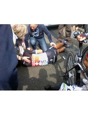 Cancellara comes to grief