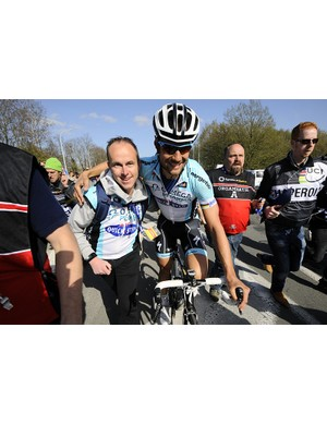Boonen power - Sven and Tom after the finish