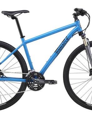 Pinnacle Cobalt Three (£550, Shimano M446 hydraulic disc brakes, nine-speed Shimano Acera, Suntour NCX-D fork)