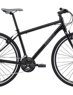 The Lithium One hybrid features V-brakes, a triple chainset (28/38/48t) and a 12-32t cassette, more than equipping it for any hill