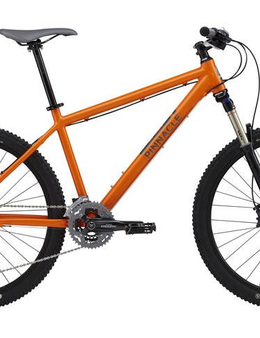 The Pinnacle Iroko Two (£1,200) features a RockShox Reba RL fork and Shimano's SLX derailleurs