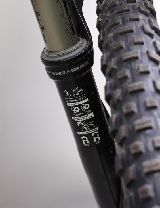Dual Position Coil instructions on the back of the fork leg