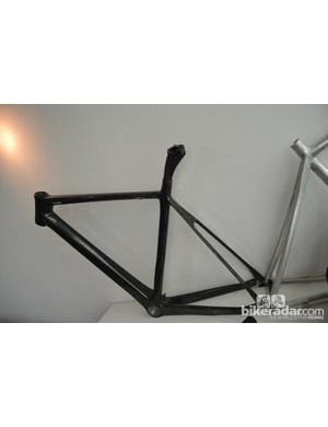 This prototype of Swift's 2012 flagship, the UltraVox, was built in a hurry to test a layup adjustment to the chainstays