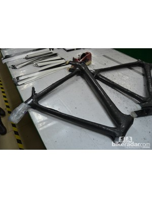 This is a semi-monocoque frame. The front triangle is made in one piece (monocoque) and the rear stays are bonded in later