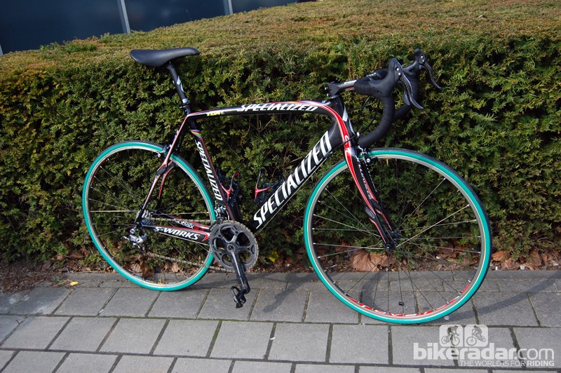 Tom Boonen (Quick Step) won Paris-Roubaix in 2009 aboard this Specialized S-Works Roubaix SL2.