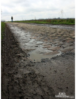How bad are the Roubaix cobbles? Keep in mind that this is an exceptionally smooth section overall.