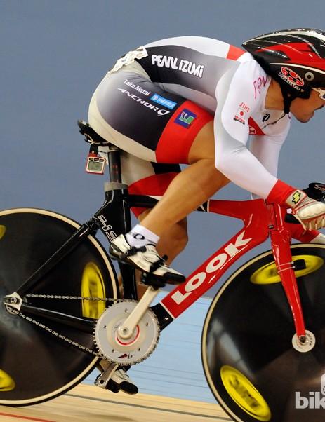 Seiichiro Nakagawa in the men's sprint qualifying