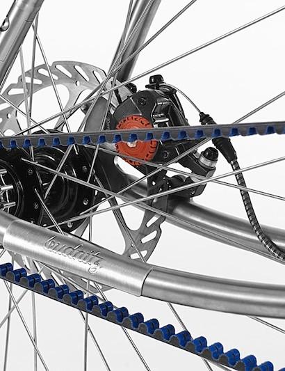 All Budnitz bikes use Gates Carbon Drive belt system