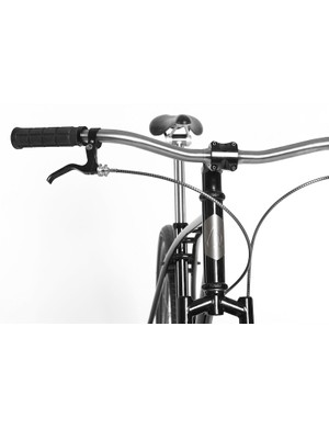 Budnitz equip all of the bikes with titanium head badges, bars and seat posts