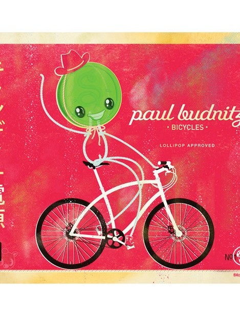 Budnitz also sells bike-influenced art, this is: 'Candy Powered' by 64Colors