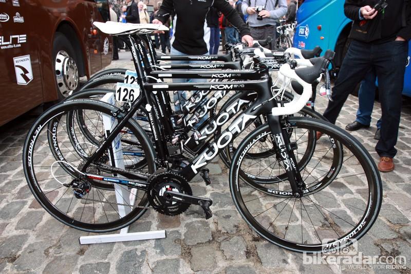 Ag2r-La Mondiale raced Scheldprijs on these Kuota KOMs
