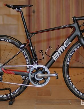 BMC launched the new GranFondo GF01 'endurance' model in Kortrijk, Belgium just ahead of the start of Paris-Roubaix