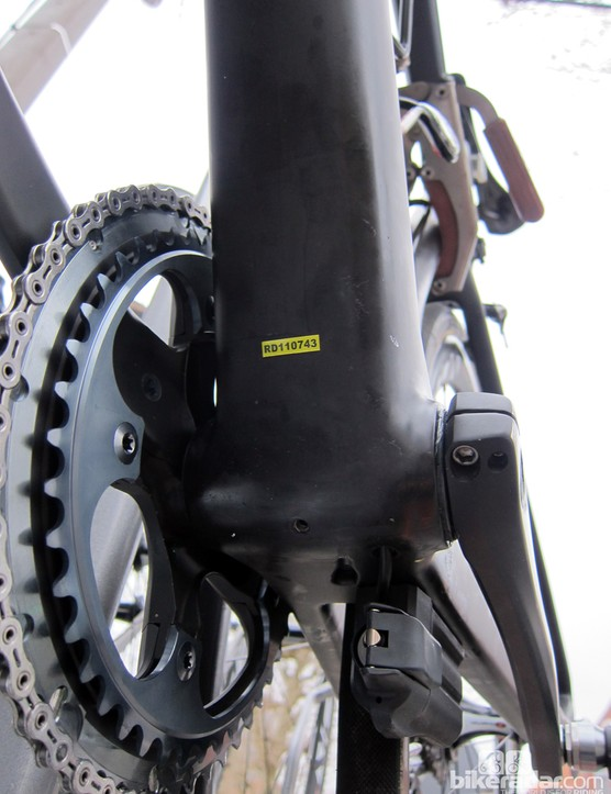 Team riders likely appreciate the extra stiffness afforded by the extra-wide bottom bracket shell and adjoining tubes