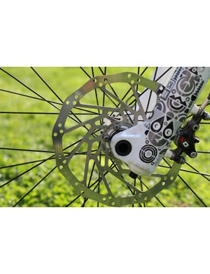 Avid X0 brake with an older 200mm front rotor