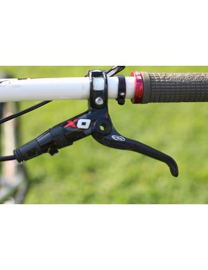 There is no front shifter because there is no front derailleur