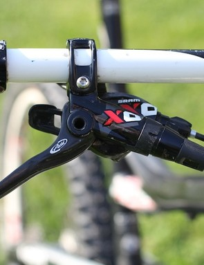 A rear SRAM XO shifter and Avid X0 brake