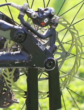 Avid XO brake and 180m front rotor