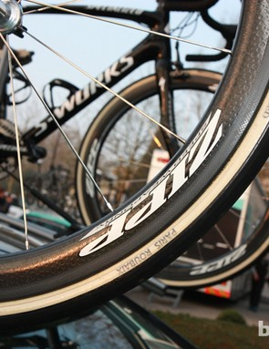Tom Boonen (Omega Pharma-QuickStep) will race the hell of the north on 27mm-wide FMB Paris-Roubaix tubulars